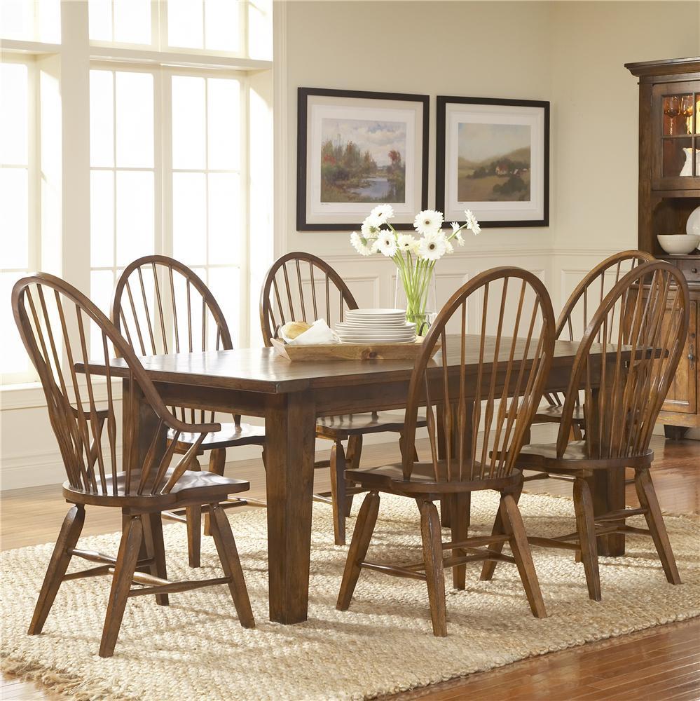 Broyhill Furniture Attic Rustic 7Pc Dining Room - Item Number: 5399-42-85x6