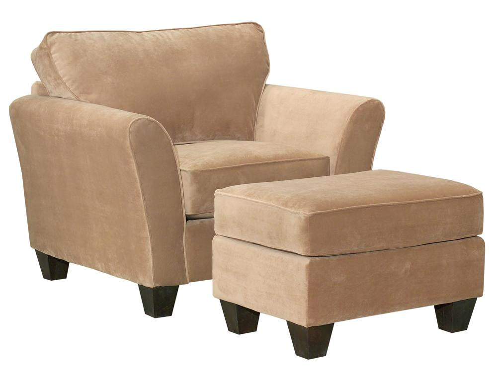 Contemporary Style Chair and Ottoman