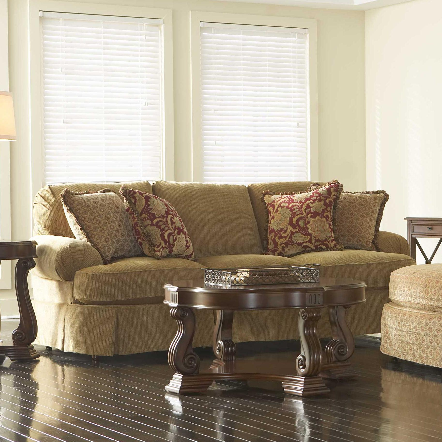 Merveilleux McKinney Skirted Sofa By Broyhill Furniture