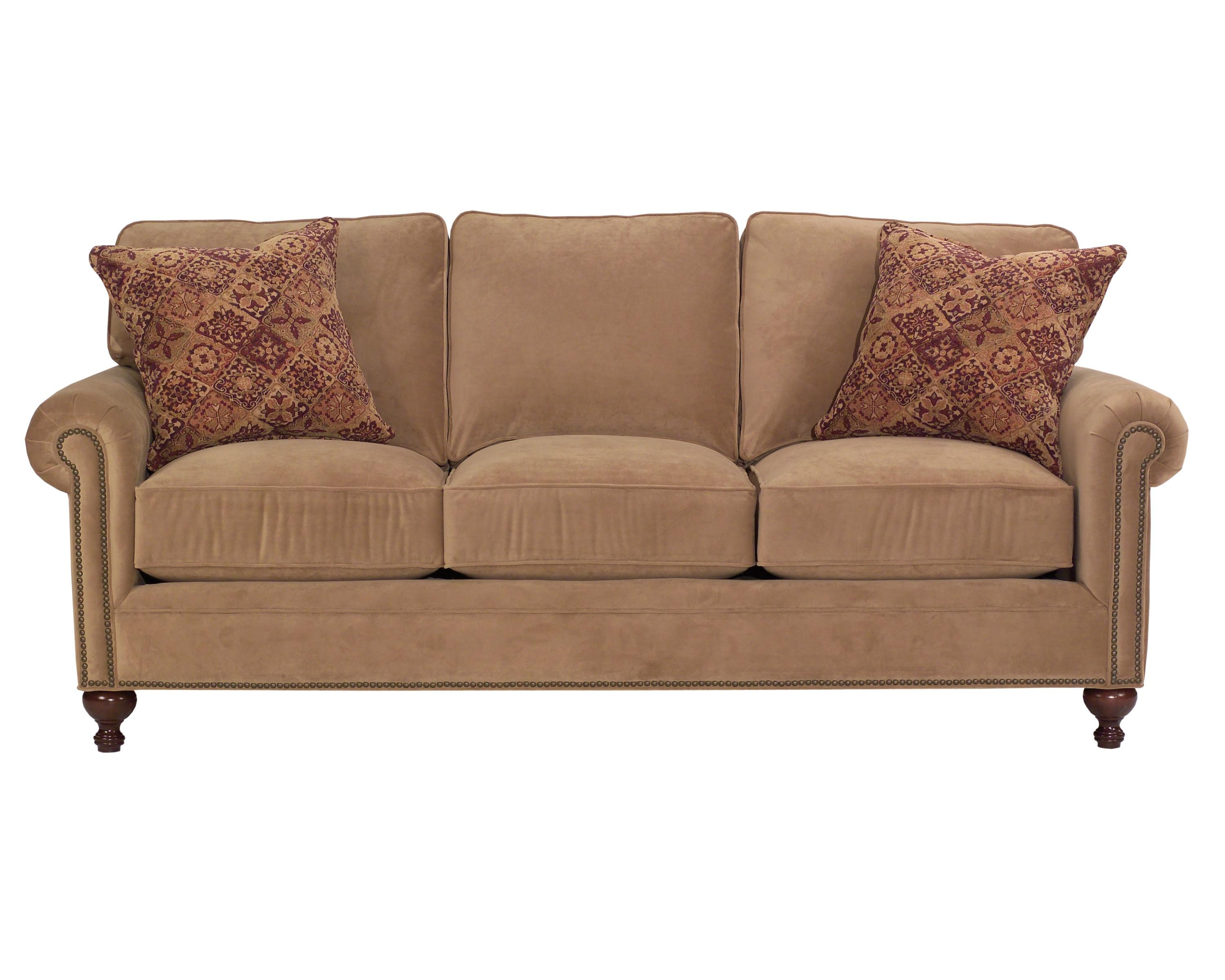 Broyhill Furniture Harrison 6751 3 Traditional Style Sofa With Exposed Wood Feet John V