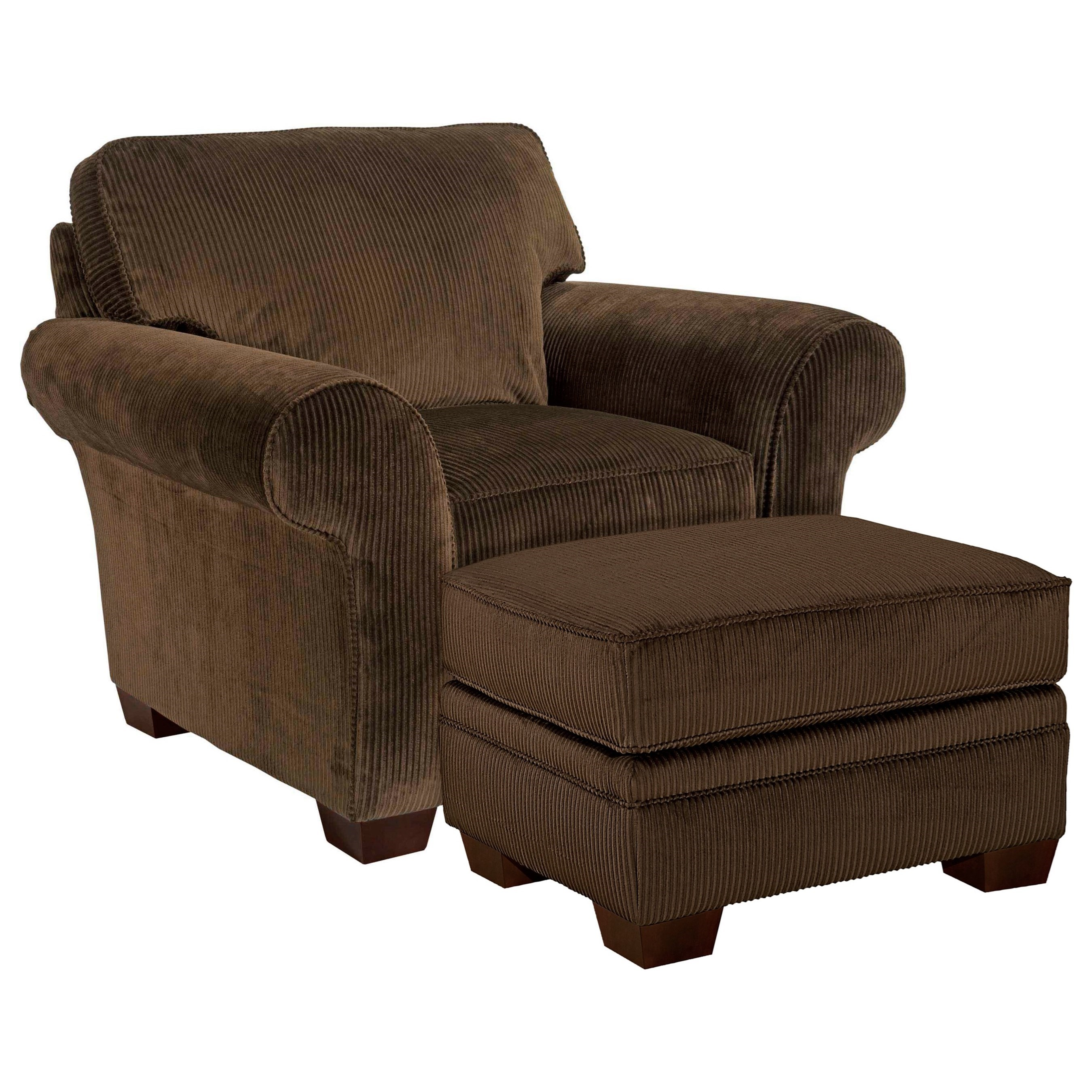 Broyhill Furniture Zachary Chair and Ottoman - Item Number: 7902-0+5-7973-87