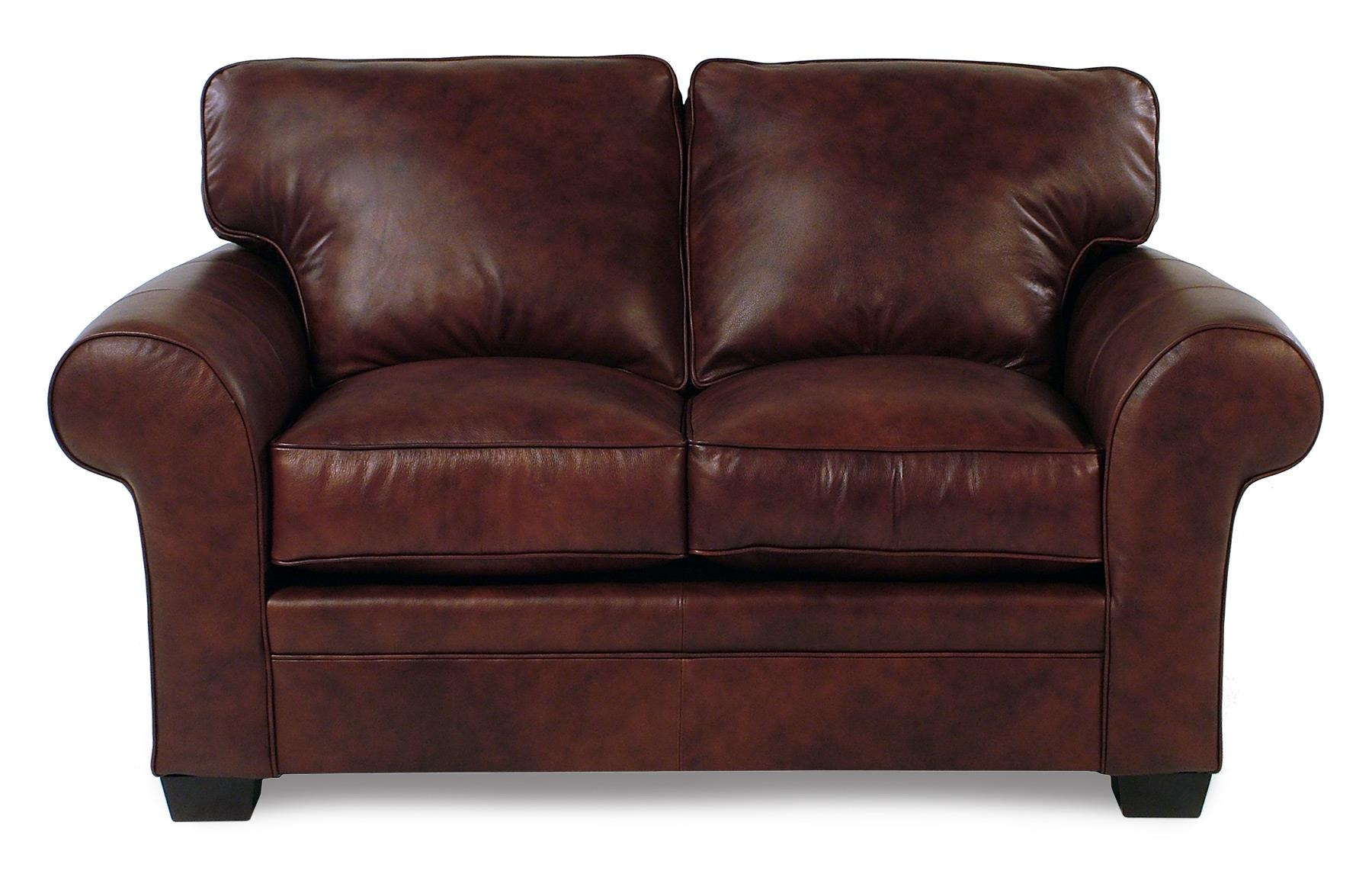 Broyhill Furniture Zephyr Leather Loveseat - Item Number: L7902-1-BARK