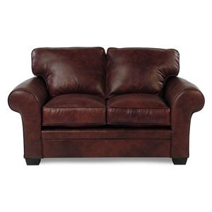 Broyhill Furniture Zachary Leather Loveseat