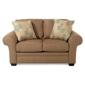 Broyhill Furniture Lagoona Roll Arm Loveseat