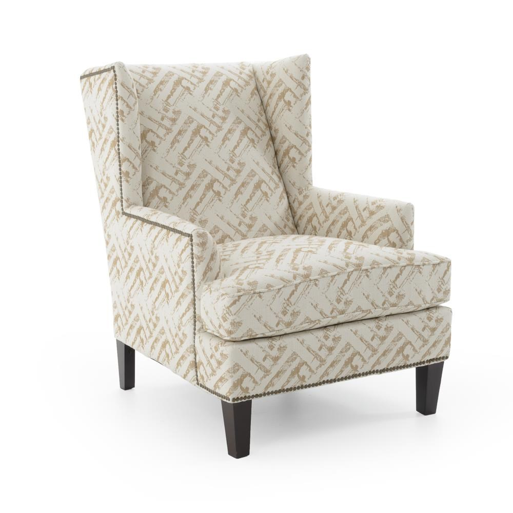 Broyhill Furniture Accent Chairs and Ottomans  Lauren Chair - Item Number: 9039-0 4602-84 W BRASS