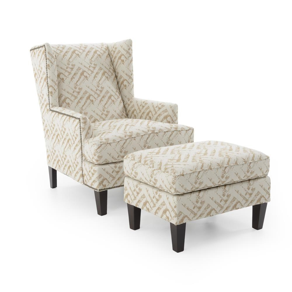 Broyhill Furniture Accent Chairs and Ottomans  Chair and Ottoman - Item Number: 9039-0+9039-5 4602-84 W BRASS
