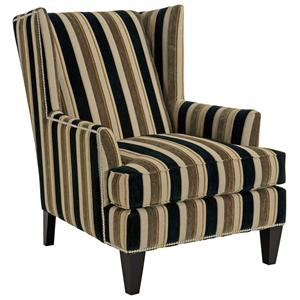 Broyhill Furniture Accent Chairs and Ottomans  Lauren Contemporary Wing Chair