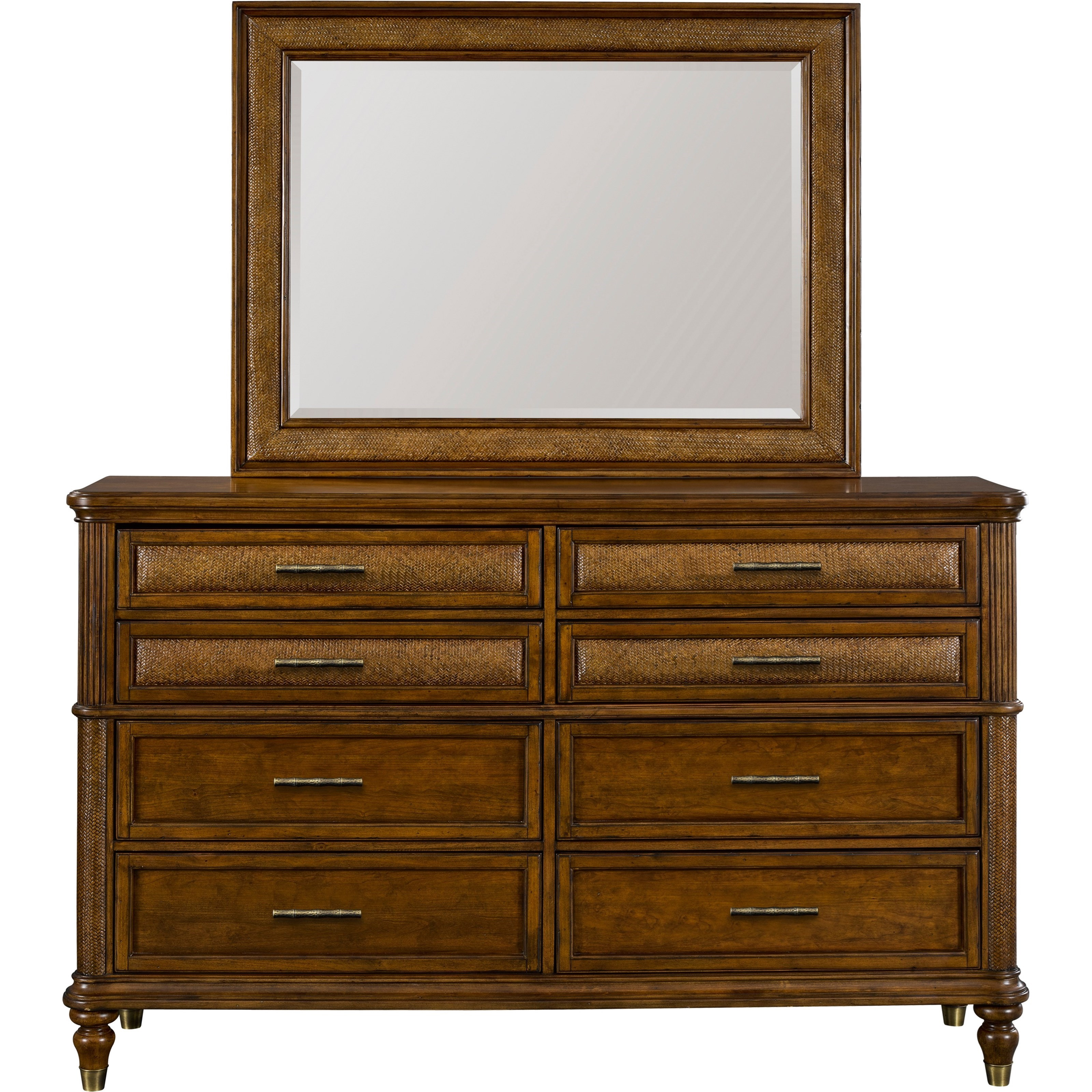 Broyhill Furniture Amalie Bay Dresser and Mirror Combo - Item Number: 4548-230+6