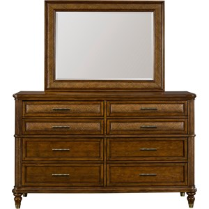 Broyhill Furniture Amalie Bay Dresser and Mirror Combo