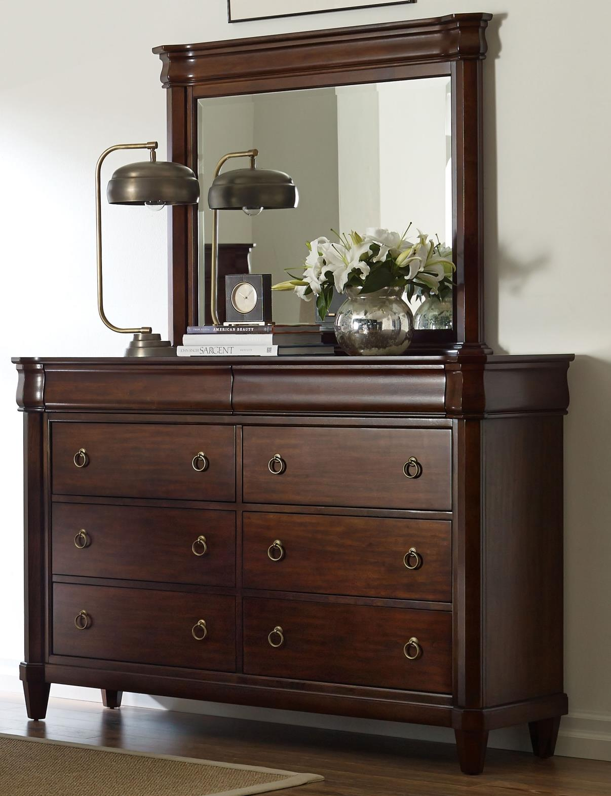 Broyhill Furniture Aryell Dresser + Mirror - Item Number: 4906-230+236
