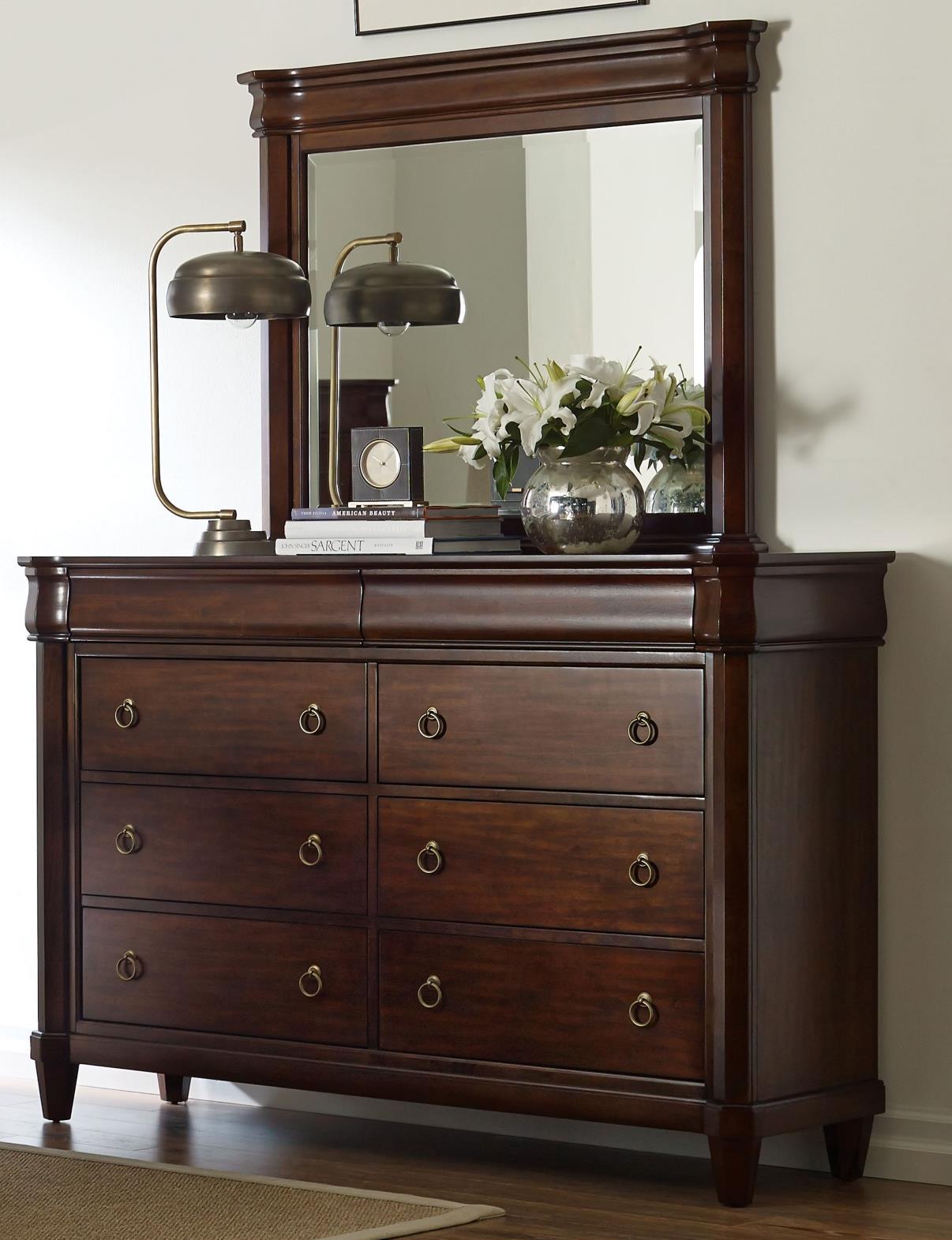 Broyhill Furniture Aryell Dresser + Mirror - Item Number: 4906-230+236