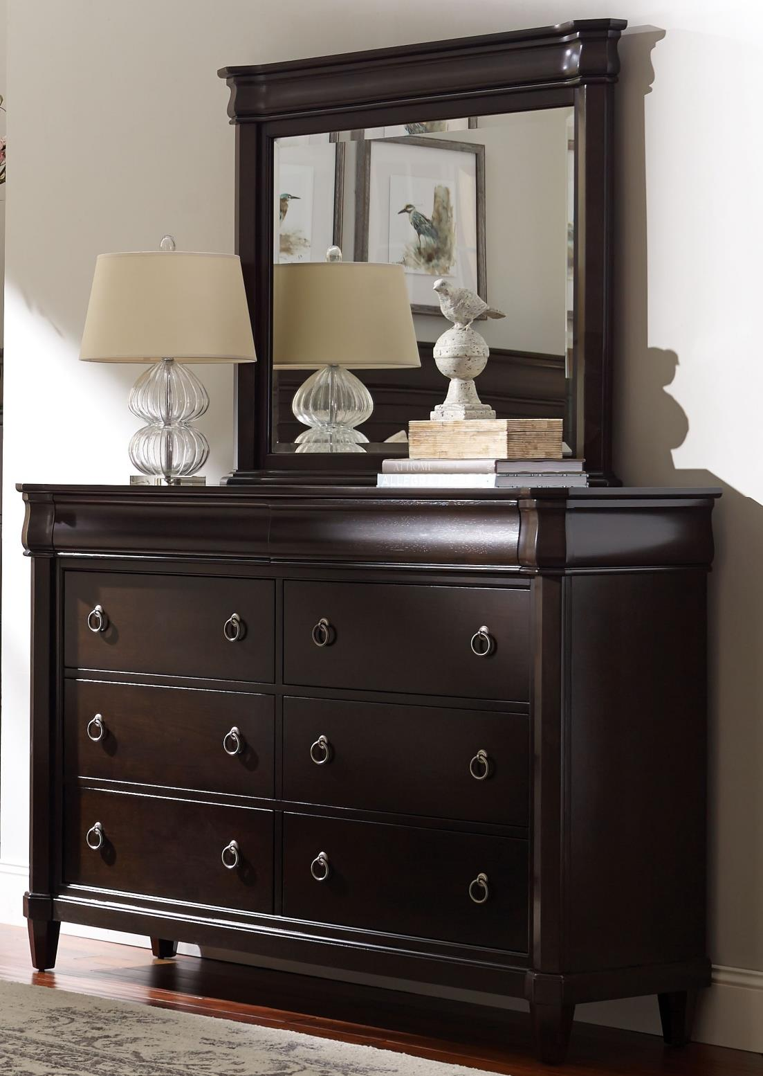 Broyhill Furniture Aryell Dresser + Mirror - Item Number: 4907-230+236
