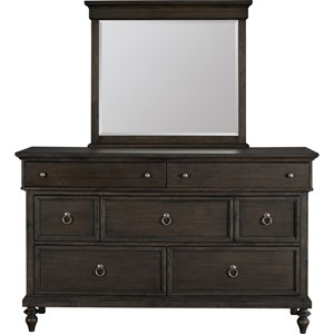 Broyhill Furniture Ashgrove Dresser and Mirror Combo