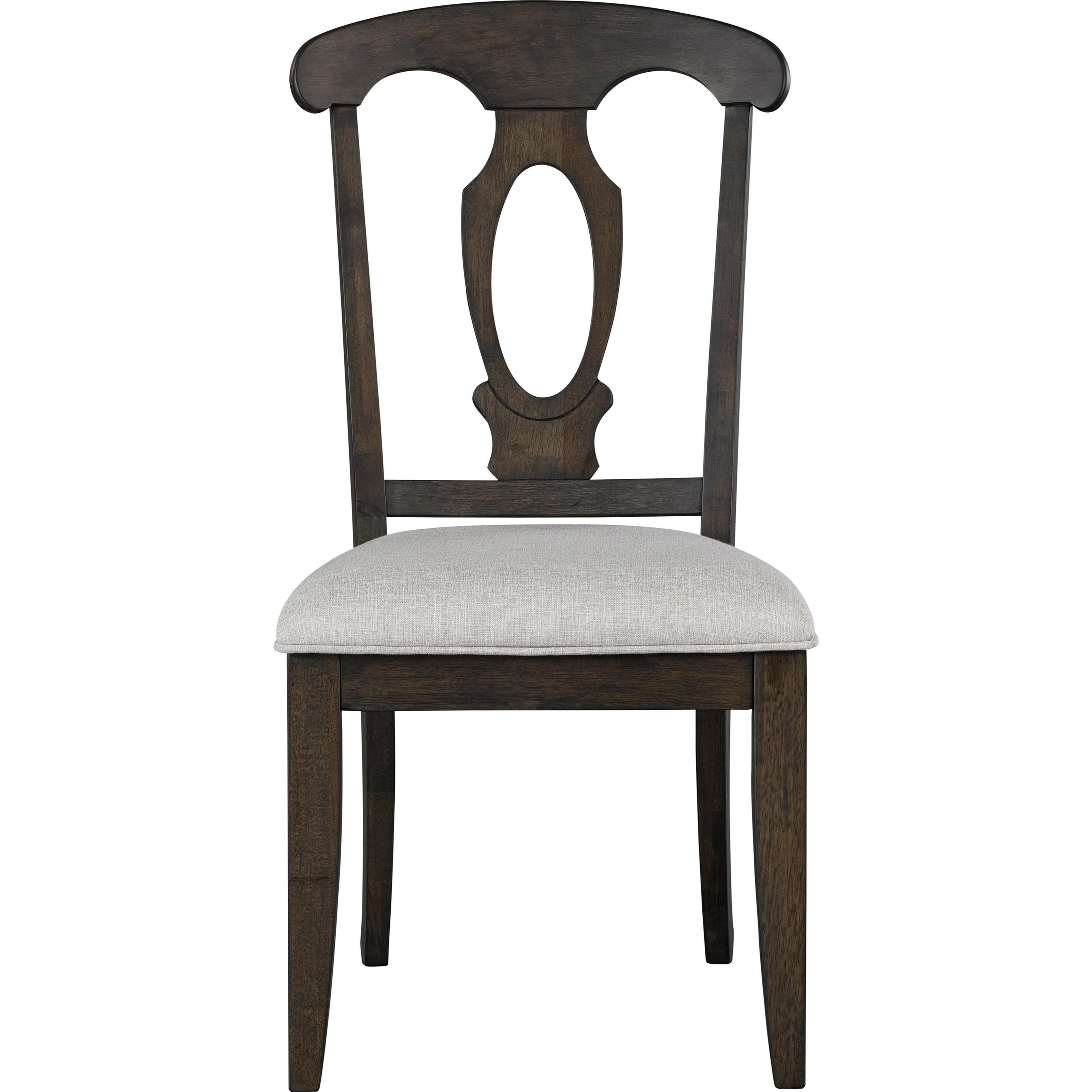 Broyhill Furniture Ashgrove Upholstered Seat Side Chair - Item Number: 4547-581NUT