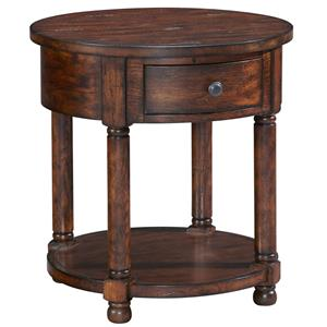 Broyhill Furniture Attic Rustic Round End Table
