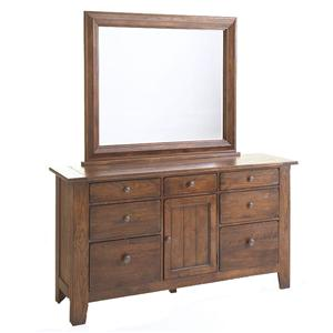 Broyhill Furniture Attic Rustic Dresser and Mirror Combo