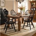 Broyhill Furniture Attic Heirlooms 5 Piece Dining Set - Item Number: 5397-42+2x84b+2x85b