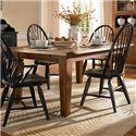 Broyhill Furniture Attic Heirlooms 5 Piece Dining Set - Rectangular Leg Table