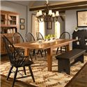 Broyhill Furniture Attic Heirlooms 7 Piece Dining Set - Item Number: 5397-42+2x84b+3x85b+96