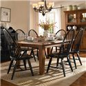 Broyhill Furniture Attic Heirlooms 7 Piece Dining Set - Item Number: 5397-42+2x84b+4x85b
