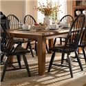 Broyhill Furniture Attic Heirlooms 7 Piece Dining Set - 5397-42+2x84b+4x85b - Rectangular Leg Table