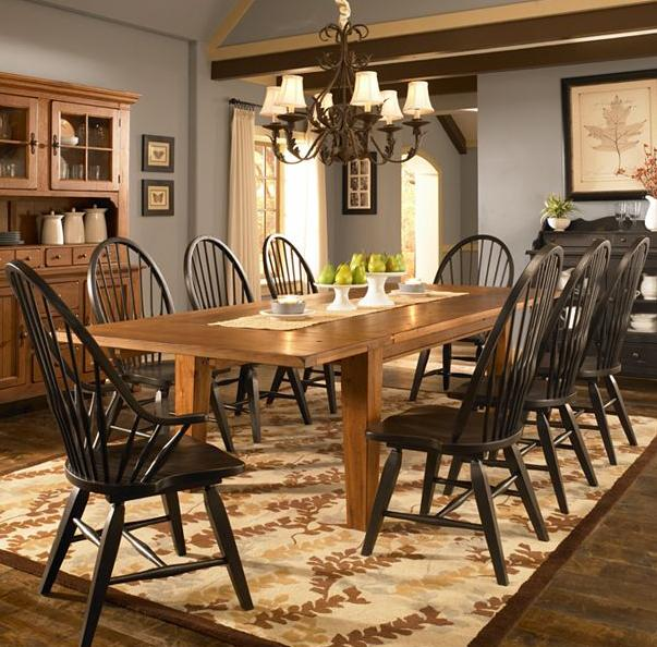 Broyhill Furniture Attic Heirlooms 9 Piece Dining Set - Item Number: 5397-42+2x84b+6x85b