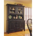 Broyhill Furniture Attic Heirlooms China Hutch and Base - Item Number: 5397-65BV+66B