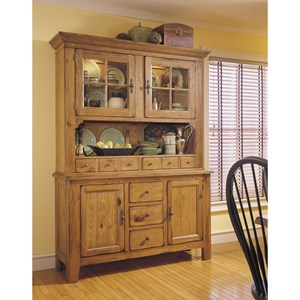 Broyhill Furniture Attic Heirlooms China Hutch and Base