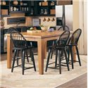 Broyhill Furniture Attic Heirlooms Windsor Counter Stool - Shown with Counter Table