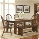Broyhill Furniture Attic Heirlooms 7 Piece Dining Set - Item Number: 5399-42+2x84+3x85+96
