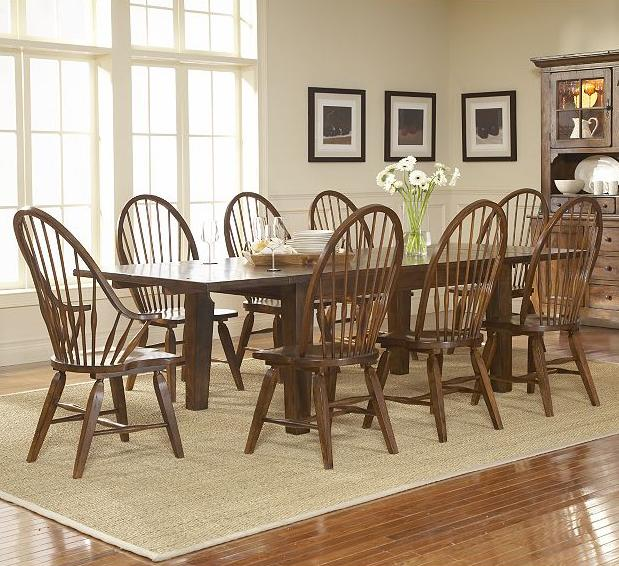 Broyhill Furniture Attic Rustic 9 Piece Dining Set - Item Number: 5399-42+2x84+6x85