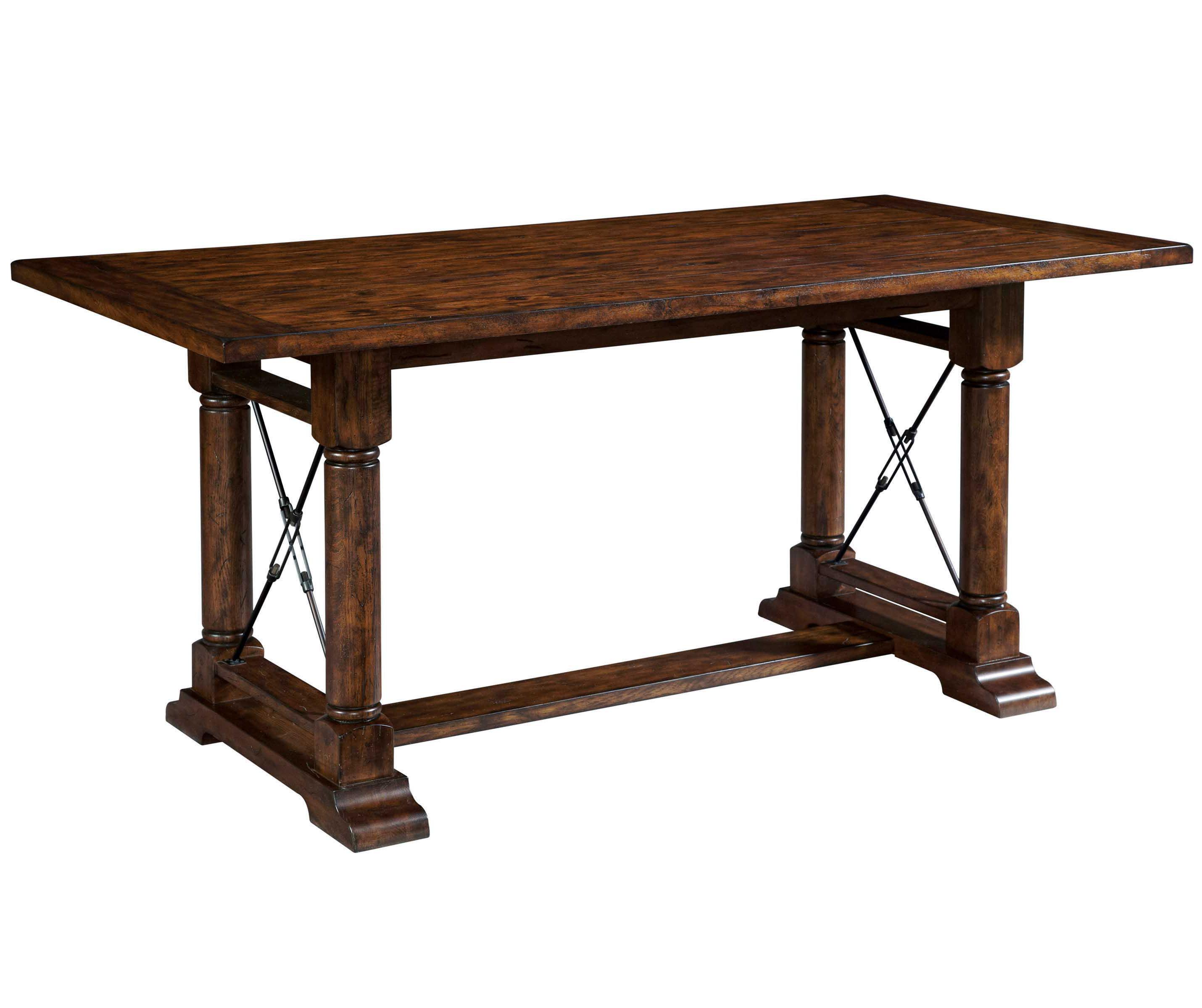 Broyhill Furniture Attic Rustic Counter Height Trestle Table - Item Number: 5399-523