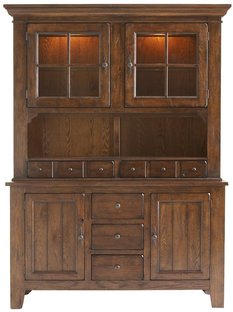 Broyhill Furniture Attic Rustic Dining China Cabinet - Item Number: 5399-65+66