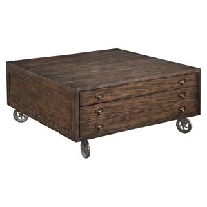Broyhill Furniture Attic Retreat Square Cocktail Table