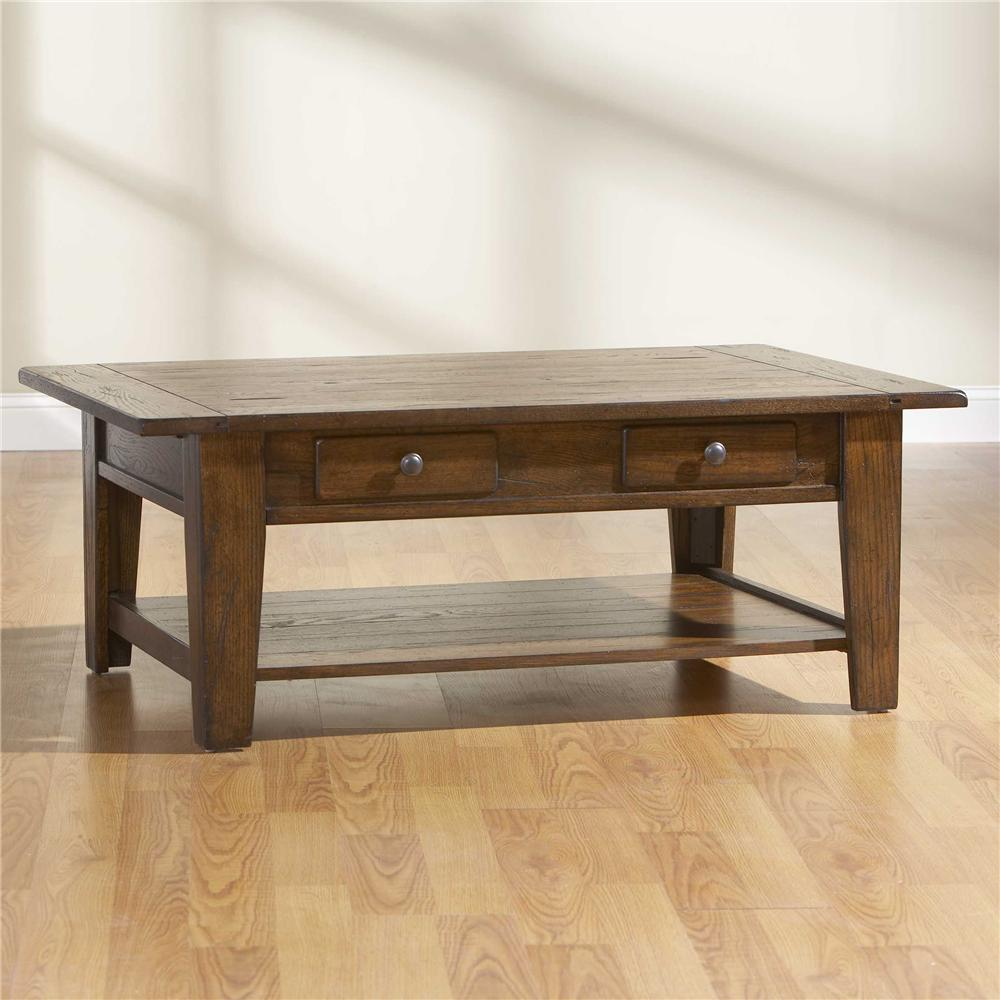 Broyhill Furniture Attic Rustic Rectangular Cocktail Table - Item Number: 3399-01