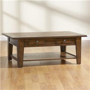 Broyhill Furniture Attic Rustic Rectangular Cocktail Table