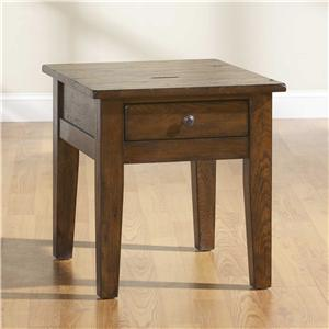 Broyhill Furniture Attic Rustic End Table