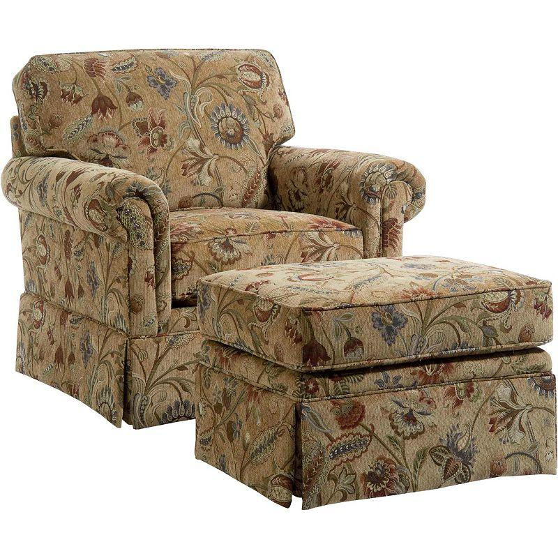 Broyhill Furniture Audrey Chair and Ottoman - Item Number: 3762-0+5-7806-82