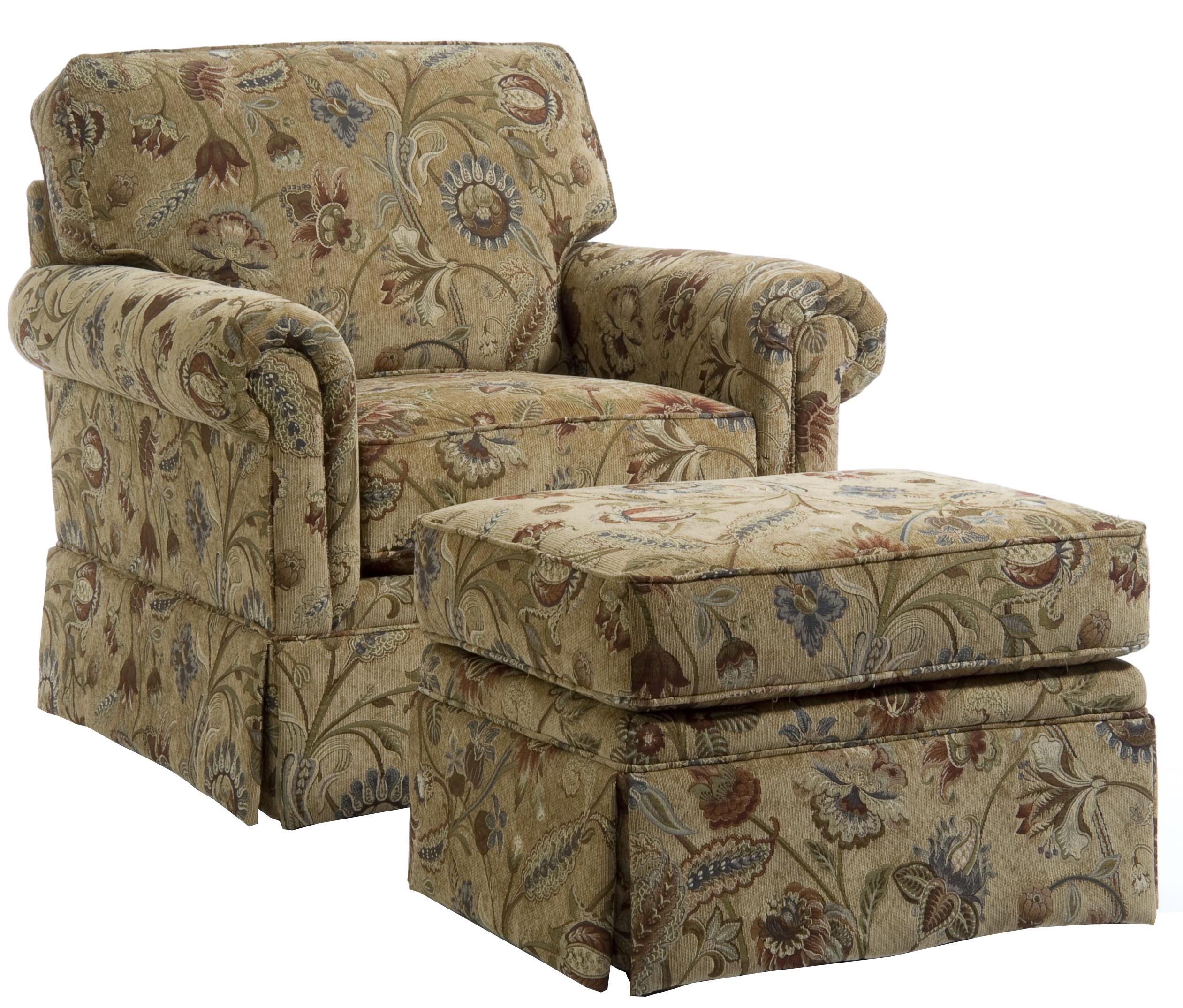 Exceptionnel Broyhill Furniture Audrey Chair And Ottoman   Item Number: 3762 0+5