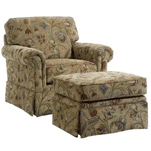 Broyhill Furniture Audrey Chair and Ottoman