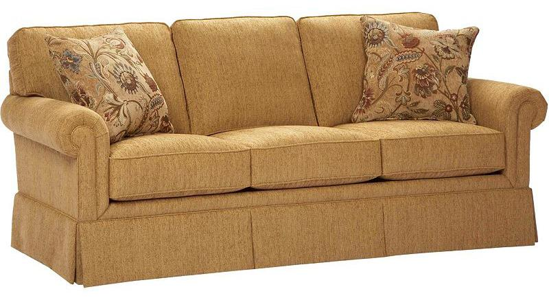 Broyhill furniture audrey 3762 3 stationary sofa john v for Broyhill chaise lounge cushions