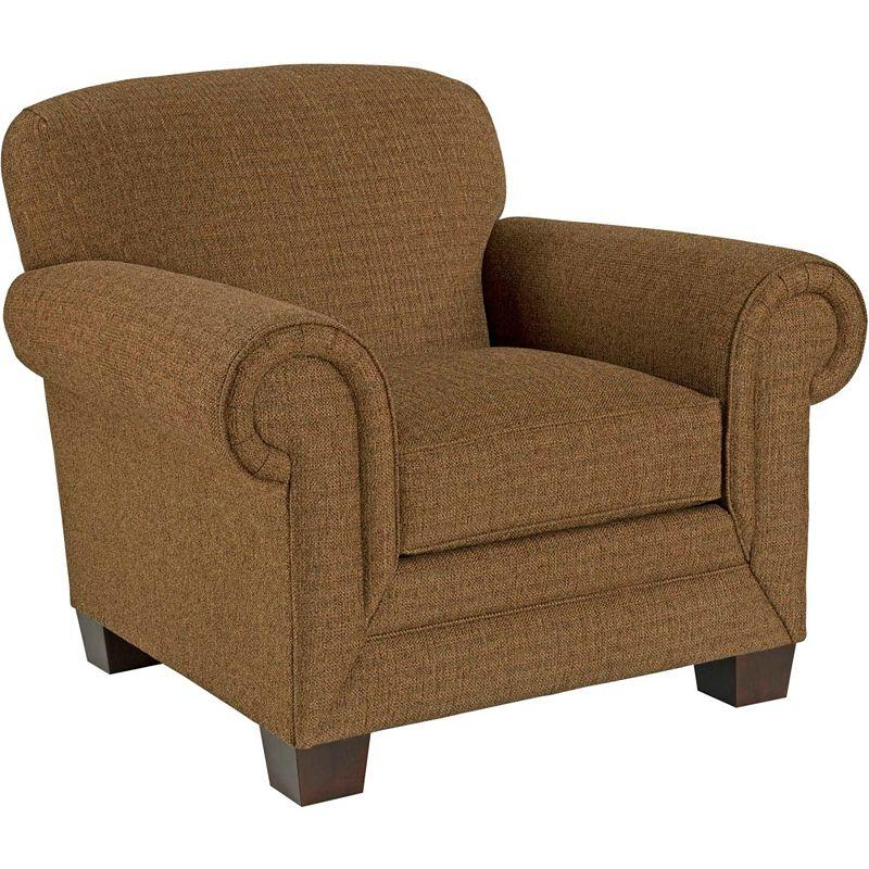 Ava Upholstered Chair with Exposed Wood Feet