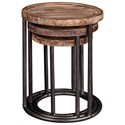 Broyhill Furniture Bedford Avenue 6th Street Nesting Tables with Round Tops