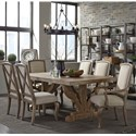 Broyhill Furniture Bedford Avenue 7 Piece Table and Chair Set - Item Number: 8615-501+2x539+4x538