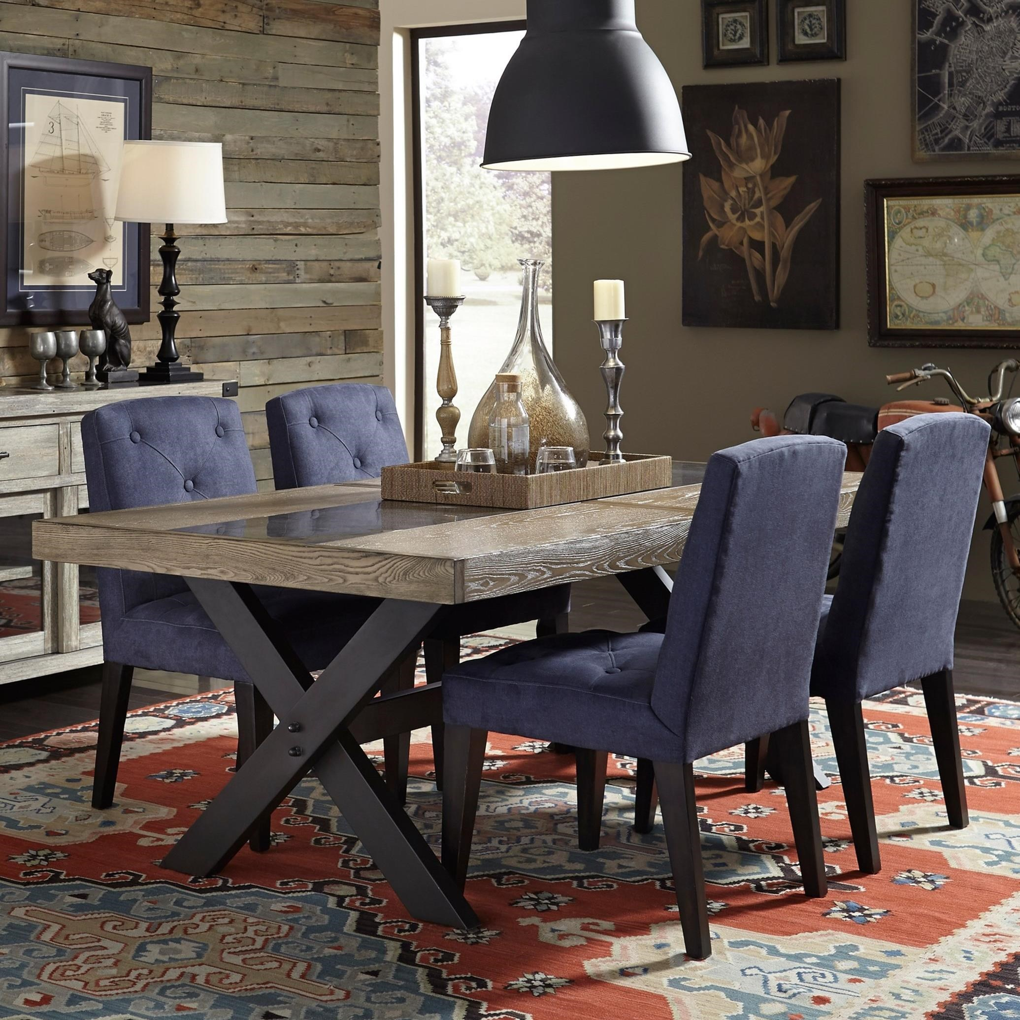 Broyhill Furniture Bedford Avenue 5 Piece Table and Chair Set - Item Number: 8615-502+4x520
