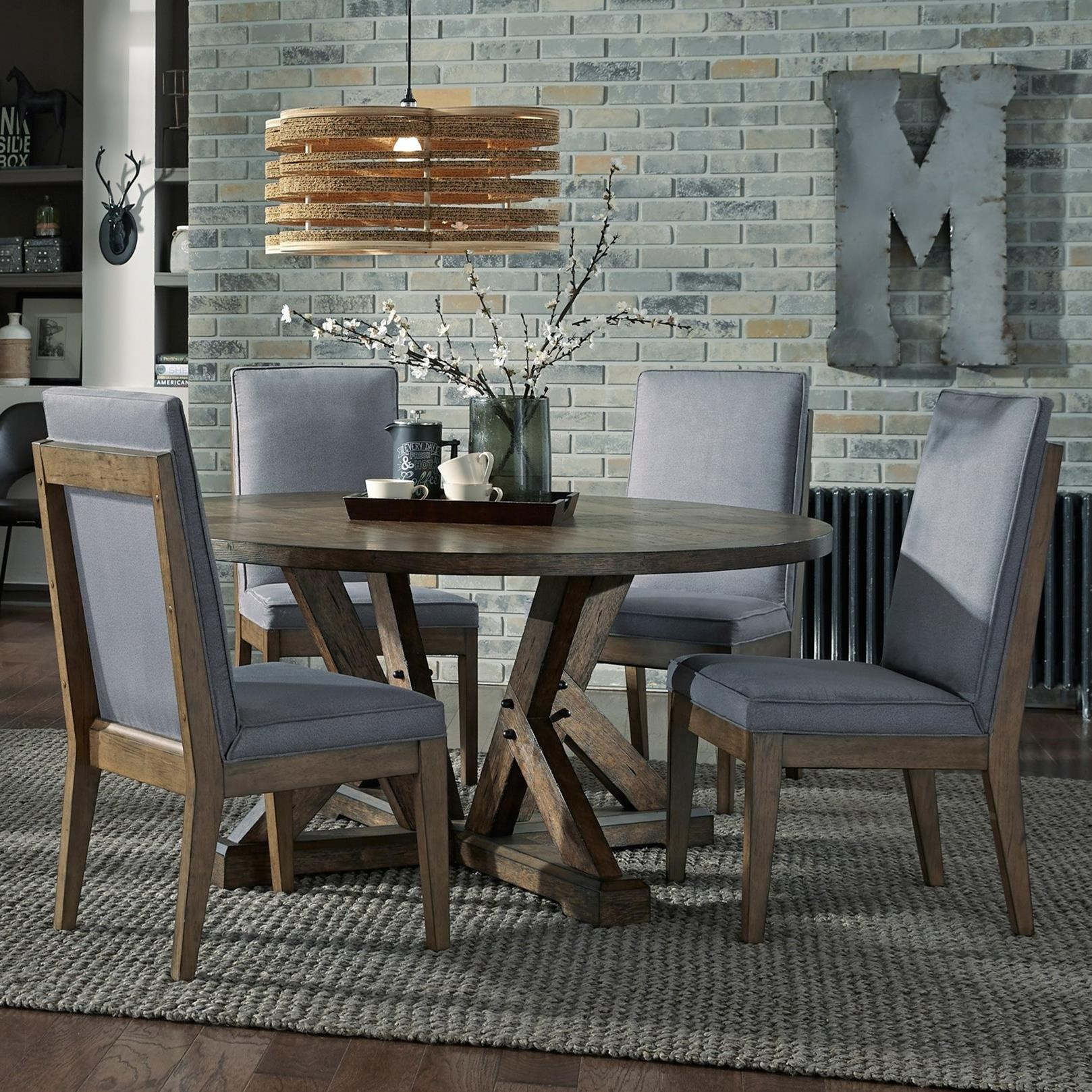 Broyhill Furniture Bedford Avenue 5 Piece Table and Chair Set - Item Number: 8615-503+4x523