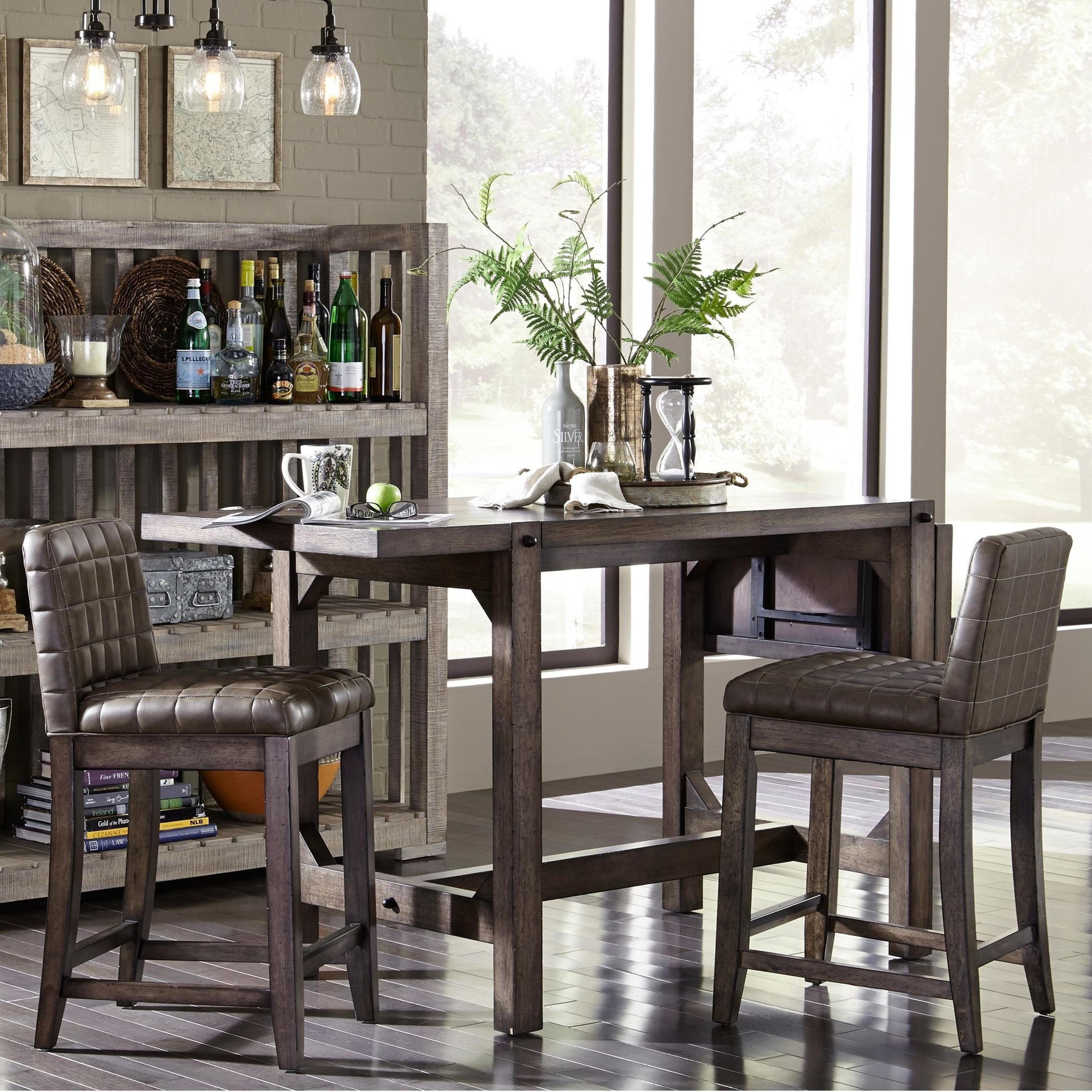 Broyhill Furniture Bedford Avenue 3 Piece Counter Height Table and Stool Set - Item Number: 8615-504+2x529