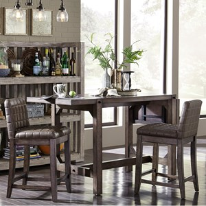 Broyhill Furniture Bedford Avenue 3 Piece Counter Height Table and Stool Set