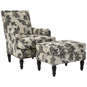 Broyhill Furniture Belicia Chair and Ottoman