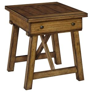 Broyhill Furniture Bethany Square Drawer End Table